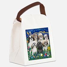 Tile-MoonGarden-7ShihTzuCUTIES Canvas Lunch Bag