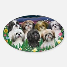 7 Shih Tzus - by JF Decal