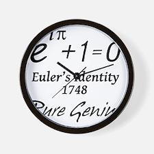 eulersIdentityPureGenius-1-blackLetters Wall Clock