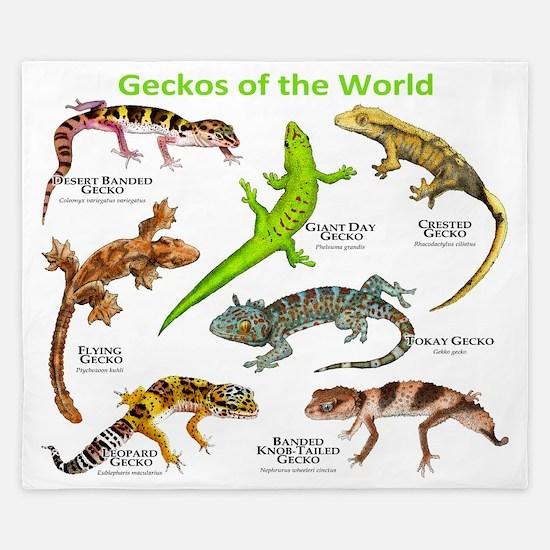 Geckos of the World King Duvet