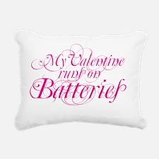 valentine batt copy Rectangular Canvas Pillow
