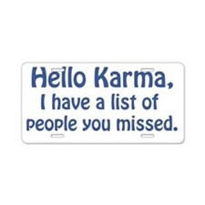 Karma Aluminum License Plate