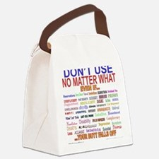 No MatterWhatTextColor. Canvas Lunch Bag