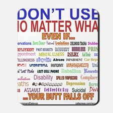 No MatterWhatTextColor. Mousepad