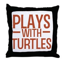 playsturtles Throw Pillow