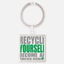 Recycle-Yourself-Organ-Donor-TCH Square Keychain