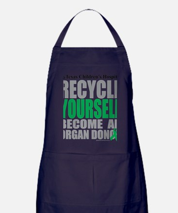 Recycle-Yourself-Organ-Donor-TCH Apron (dark)