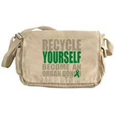 Recycle-Yourself-Organ-Donor-TCH-bk Messenger Bag