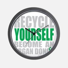 Recycle-Yourself-Organ-Donor-TCH-bk Wall Clock