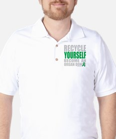 Recycle-Yourself-Organ-Donor-TCH-bk Golf Shirt