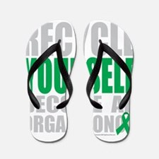 Recycle-Yourself-Organ-Donor-TCH-bk Flip Flops