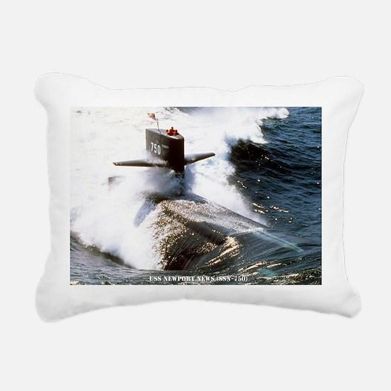 nnewsssn large framed pr Rectangular Canvas Pillow