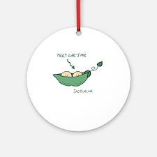 that ones me right arrow jacqueline Round Ornament