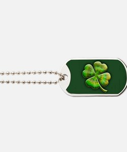 clover-tiedye2-OV Dog Tags
