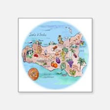"sic.map-1 Square Sticker 3"" x 3"""