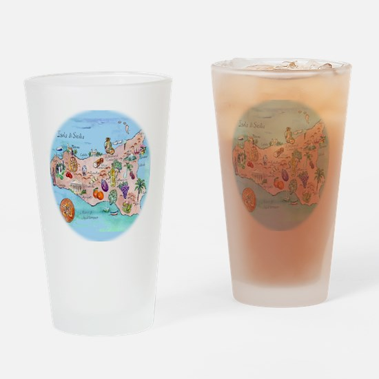 sic.map-1 Drinking Glass