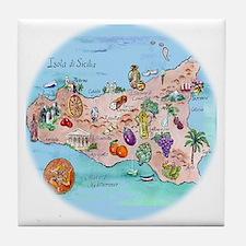 sic.map-1 Tile Coaster