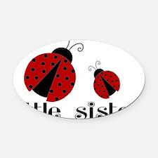 little sister lady bug Oval Car Magnet