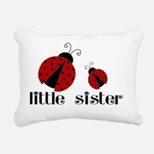 little sister lady bug Rectangular Canvas Pillow