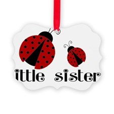 little sister lady bug Picture Ornament