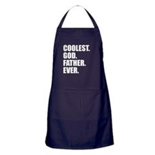 Coolest Godfather Ever Apron (dark)