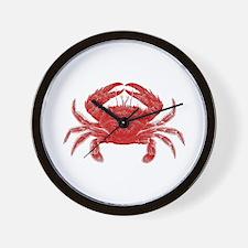 Crab Shack Art -- Wall Clock