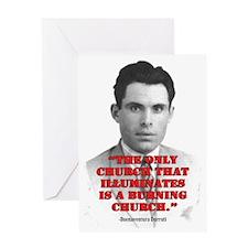 Durruti-Burning-OVAL-VERT-LARGE Greeting Card