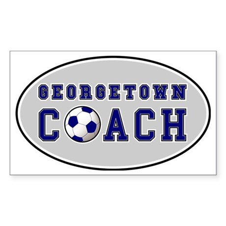 GtownCoachOval Sticker (Rectangle)