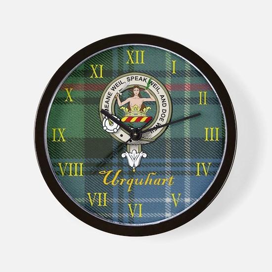 Urquhart Clan Crest / Tartan Wall Clock