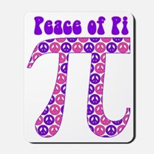 Peace of Pi - Pink, Purple Mousepad