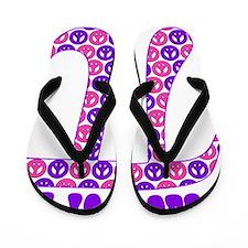 Peace of Pi - Pink, Purple Flip Flops