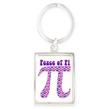 Peace of Pi - Pink, Purple Portrait Keychain