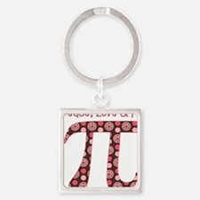 Peace, Love,  Pi Square Keychain