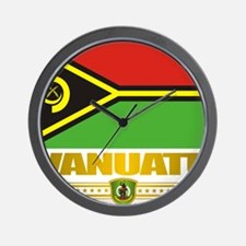 Vanuatu (Flag 10)2 Wall Clock