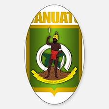 Vanuatu Gold Sticker (Oval)