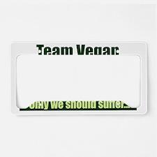 Team Vegan Shirt License Plate Holder