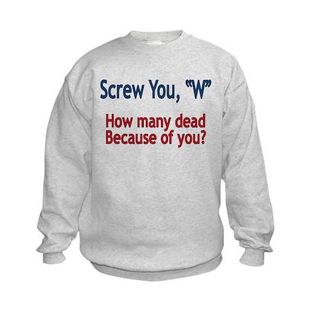 Screw W - Kids Sweatshirt