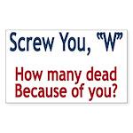 Screw W - Small Bumper Sticker