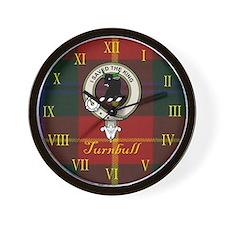 Turnbull Clan Crest / Tartan Wall Clock