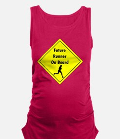 Future Runner On Board Maternit Maternity Tank Top