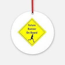 Future Runner On Board Maternity T- Round Ornament