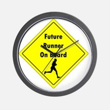 Future Runner On Board Maternity T-Shir Wall Clock