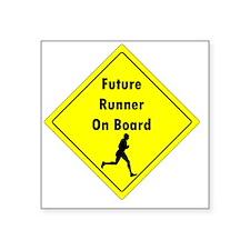 """Future Runner On Board Mate Square Sticker 3"""" x 3"""""""