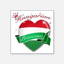 "hungary Square Sticker 3"" x 3"""