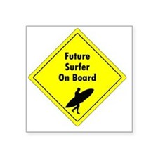 """future surfer Square Sticker 3"""" x 3"""""""