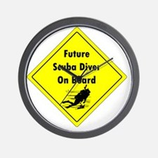 future scuba diver on board Wall Clock