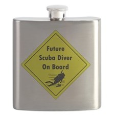 future scuba diver on board Flask