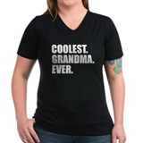 Coolest grandma ever Womens V-Neck T-shirts (Dark)