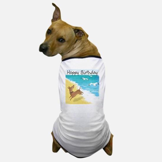 beach doghappybirthday new Dog T-Shirt