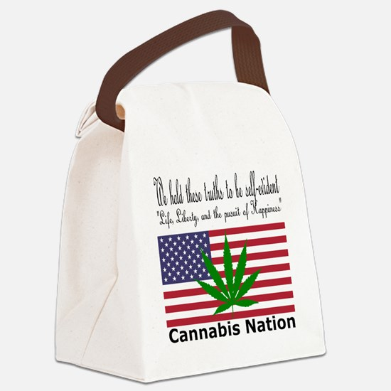 Cannabis Nation Canvas Lunch Bag